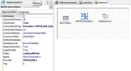 Datenmodul mit AdoNet-Komponenten (dbGo)