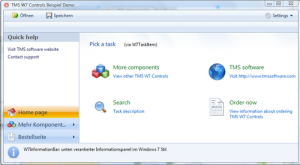 Delphi Komponenten W7Controls von TMS Software für moderne, optisch ansprechende Softwarentwicklung mit Delphi