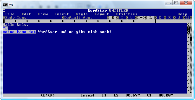 Screenshot WordStar 7