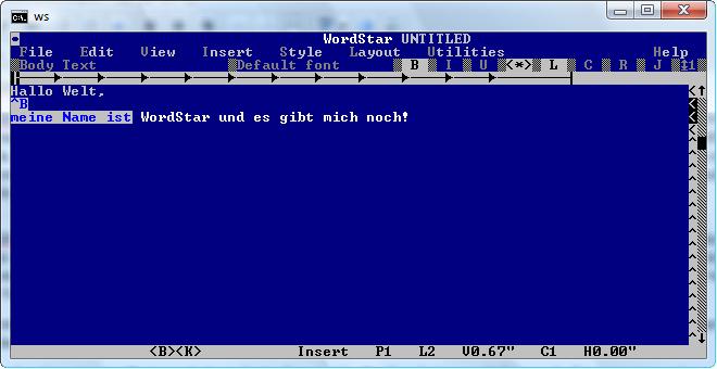 Screenshot WordStar 7