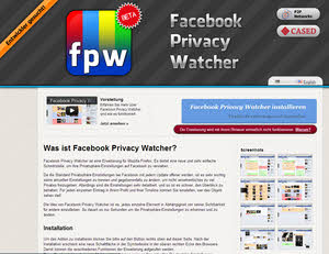 Facebook Privacy Watch - Firefox Addon