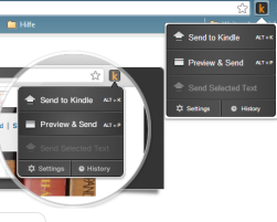 Send to Kindle für Chrome und Firefox