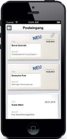 E-Post App auf dem iPhone