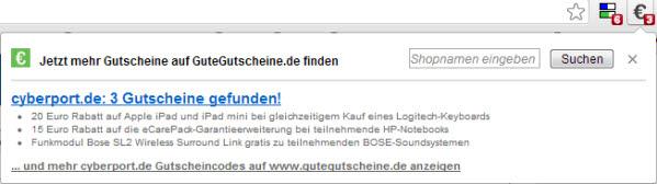 Chrome Extension: GuteGutscheine Gutschein Finder
