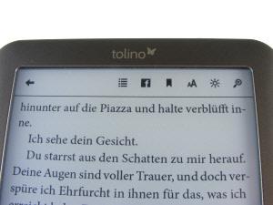 tolino shine : eBook Einstellungen