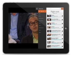 Magine on iPad - Discover tab