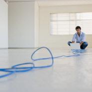 unsicher verlegtes Kabel