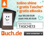 Top Bundle: Tolino shine plus hochwertige Tasche plus gratis eBooks