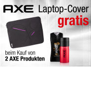 xe Laptop Cover gratis erhalten beim Kauf von 2 Axe Produkten
