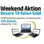 HP: 10% Rabatt auf 10 Notebooks