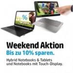 HP: 10% Rabatt auf Notebooks & Tablets mit Touch-Display
