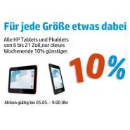 HP Weekend: 10% Rabatt Gutscheincode für alle HP Tablets und Phablets