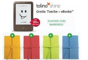 Tolino shine Bundle mit Gratis Tasche und Gratis eBooks