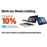 10% auf HP Tablets und Hybrid Notebook&Tablets