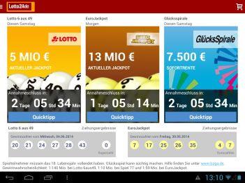 Lotto App 24 Tablet PC