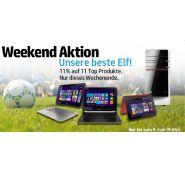 11% Rabatt auf 11 Top Produkte von HP (HP Weekend)