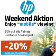 20% Rabatt auf alle HP Tablets