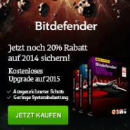 BitDefender: 20% Rabatt und kostenloses Upgrade auf Version 2015 sichern