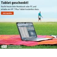 HP Aktion: Notebook oder PC kaufen und Tablet kostenlos dazubekommen