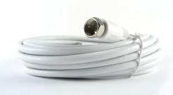 Wentronic BKF 500 SAT Anschluss Kabel (F-Stecker auf F-Stecker) 5 m weiß