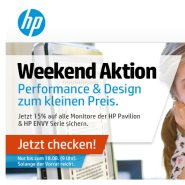 15% Rabatt auf alle HP Pavilion und HP ENVY Monitore