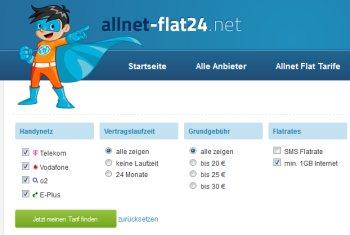 http://www.allnet-flat24.net: Allnet Flat Tarif Vergleich