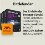 Bitdefender Sommer-Special bietet 20% Rabatt die neue Version 2015!