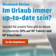 20% auf HP Tablets und HP VoiceTabs!