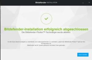 Bitdefender Installation