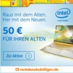 Foto vom alten Notebook/PC einsenden und 50 Euro Rabatt beim Notebook Kauf erhalten