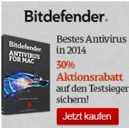 Bitdefender für Mac mit 30% Rabatt