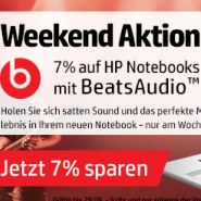 7% Rabatt auf HP Notebooks mit BeatsAudio! beim HP Weekend