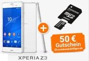 Sony Xperia Z3 inklusive 32GByte microSD-Karte im Wert von 15,90€ und einen 50€ notebooksbilliger.de Gutschein
