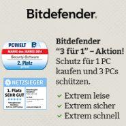 """Bitdefender """"3 für 1"""" Angebot"""