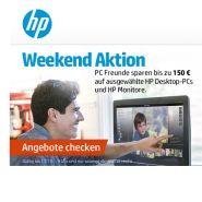 Bis zu 150 Euro Rabatt beim Kauf eines HP Desktop PC oder Monitor