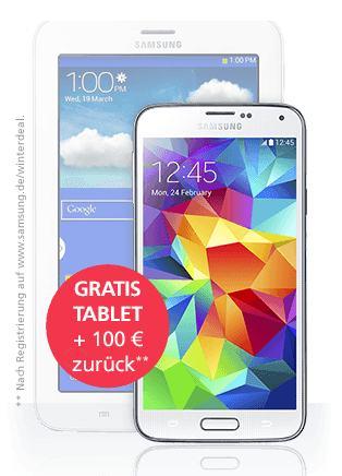 Samsung Cashback Aktion + gratis Tablet
