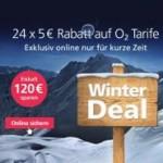 O2 Winter Deal: 120 Euro Rabatt auf alle O2 Blue Tarife Tarife