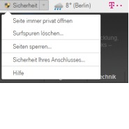 Telekom 7 Browser mit neuem Sicherheits - Feature