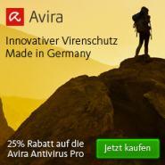 25% Rabatt auf Avira AntiVirus Pro