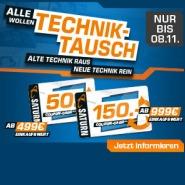 SATURN Technik-Tausch: bis zu 150 Euro Gutschein erhalten