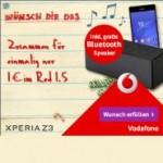 Vodafone Xmas Deal: Sony Xperia Z3 und Gratis Bluetooth Lautsprecher ab 1 Euro
