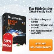 Bitdefender Xmas Family Pack mit 50% Rabatt
