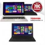 70 Euro CashBack auf Toshiba Notebooks und eine besondere Garantie