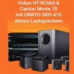 244,00€ Rabatt für das Onkyo Dolby Atmos Heimkinopaket