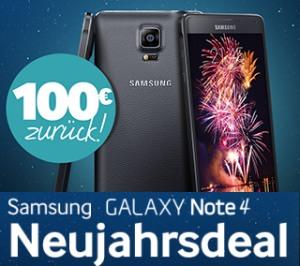100 Euro Cashback für das Samsung Galaxy Note (Neujahrsdeal)