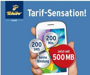 "Tchibo Mobilfunk ""Tarif - Sensation"" mit Internet für 9,95 pro Monat (Aktion)"