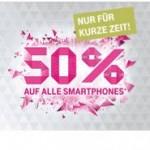 50% auf alle Smartphones wie iPhone 6 (Aktion)