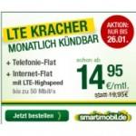 Smartmobil LTE-Tarife ohne Laufzeit  5 Euro / Monat günstiger (Aktionsangebot)
