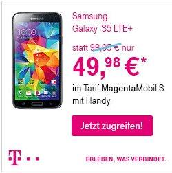 Samsung Galaxy S5 LTE+ 50% sparen auf Endgerätepreis