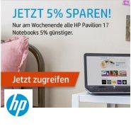 5% Rabatt auf HP Pavillion 17 Notebooks beim HP Weekend